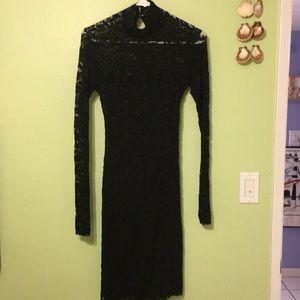 Moda sexy black dress